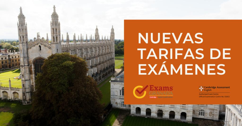 Nuevas Tarifas De Exámenes (1)
