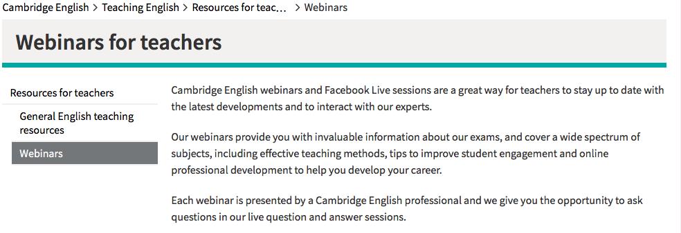 webinar for teacher