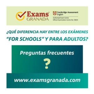 preguntas frecuentes examen for schools